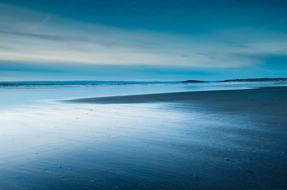 After sunset on Rhossili Bay
